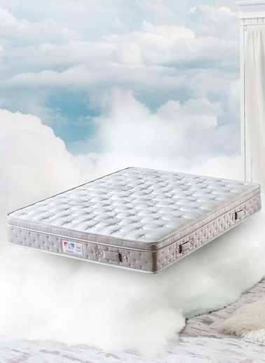 Hibboux 150x200 Cloud R.E.M. Pocket Yaylı Yatak Beyaz